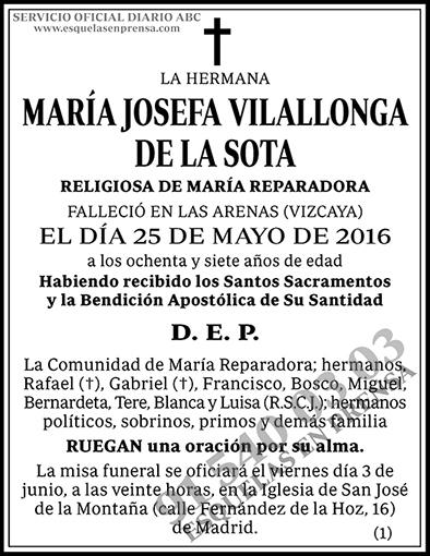María Josefa Vilallonga de la Sota
